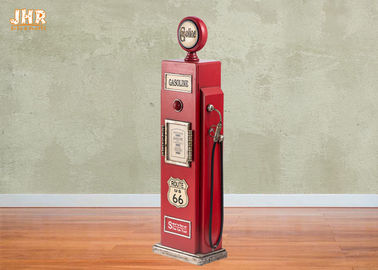 Gas Pump Storage Cabinet Decorative Wooden Cabinet Wood Floor Rack Red Color Floor Cabinet